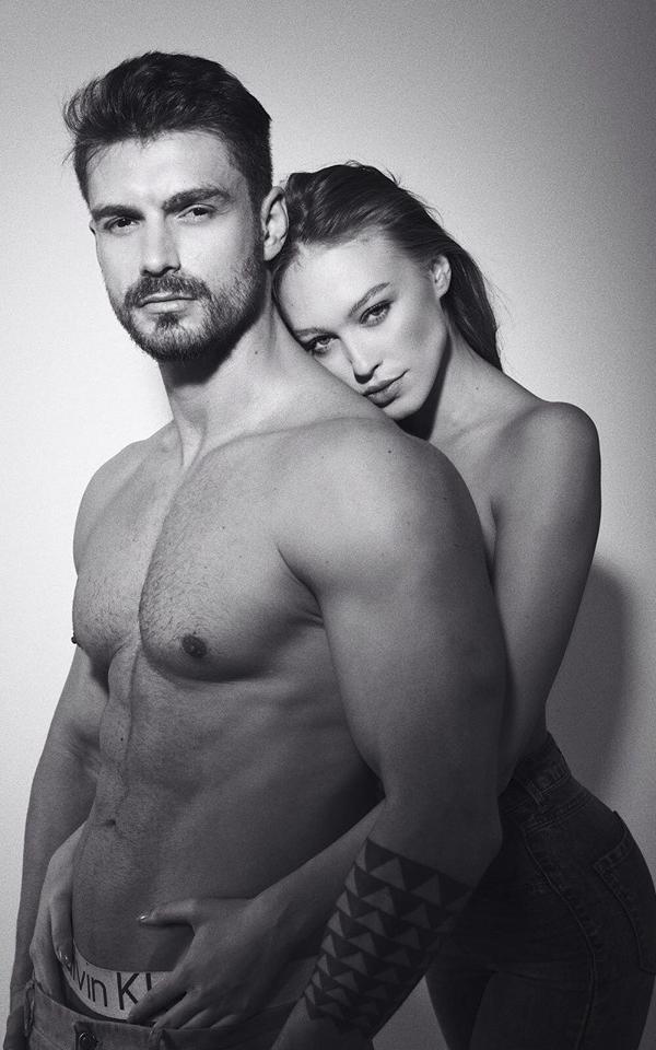 Soția lui Bogdan Vlădău, modelul Gina Chirilă, a renunțat la familie pentru carieră. Italienii sunt cuceriți de frumusețea blondinei