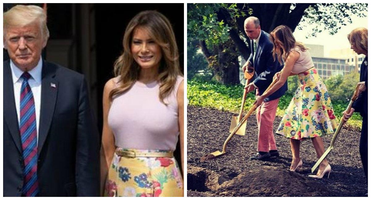 Melania Trump - o nouă apariţie elegantă! Fusta pe care a purtat-o este WOW