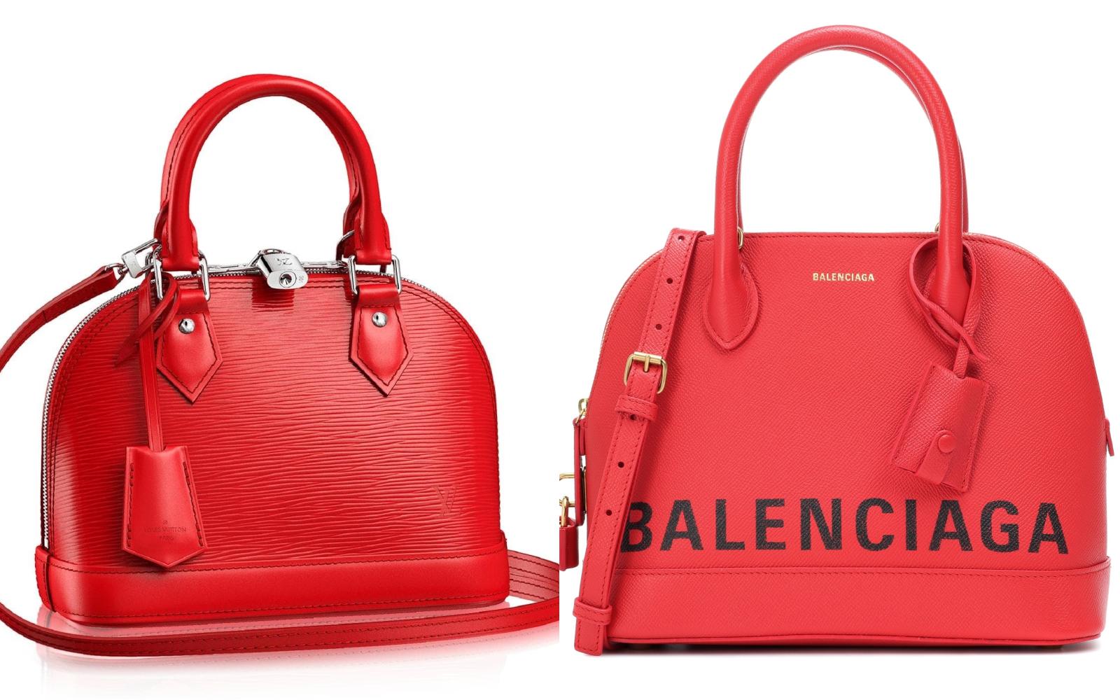 Ups! Balenciaga și Louis Vuitton, două branduri celebre, un model de geantă similar