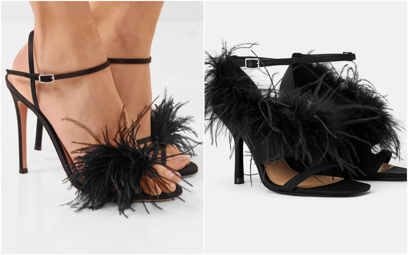Uups! Sandalele cu pene, ideale pentru petreceri! Ce variantă preferi?