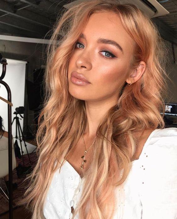 Culori De Păr La Modă în 2019 Blond Căpșună Pinterest Păr Blond