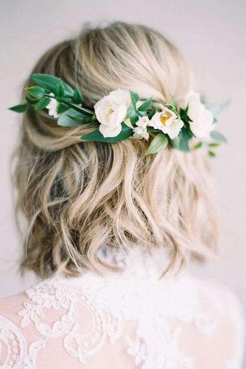 Coafuri Pentru Păr Scurt Pentru Nuntă Păr Blond Ondulat