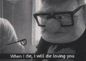 """Declarații de dragoste din filme. Filmul """"Up"""", Disney 2099"""