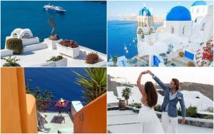 Destinații romantice Valentine's Day 2019 Santorini Instagram Vacanțe în destinații calde pentru Ziua Îndrăgostiților 2019
