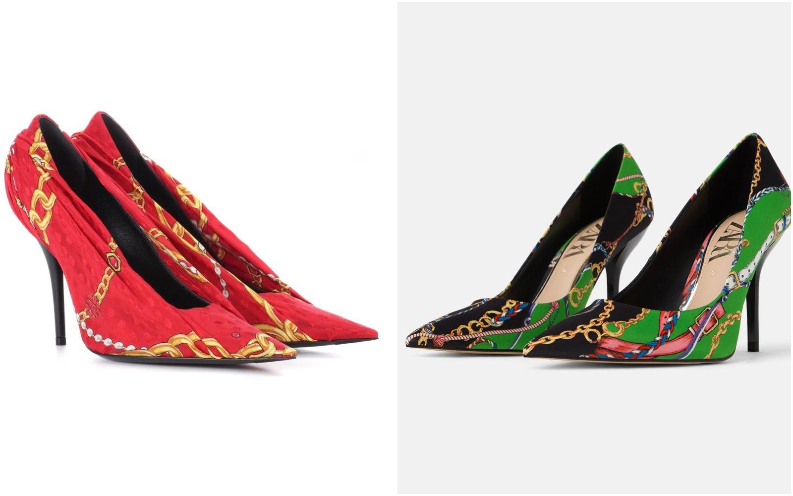 Uups! Cine face pantofi mai frumoşi, Balenciaga sau Zara?