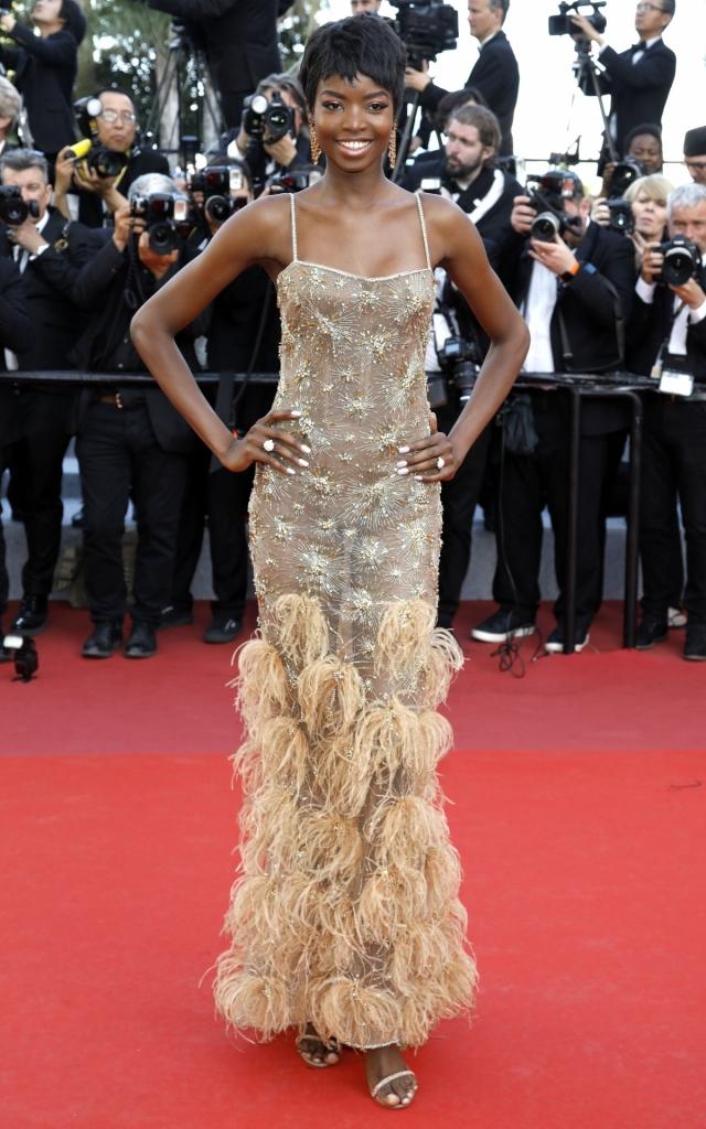 Celebritățile în a treia seară a Festivalului de Film de la Cannes 2019. Maria Borges în Roberto Cavalli