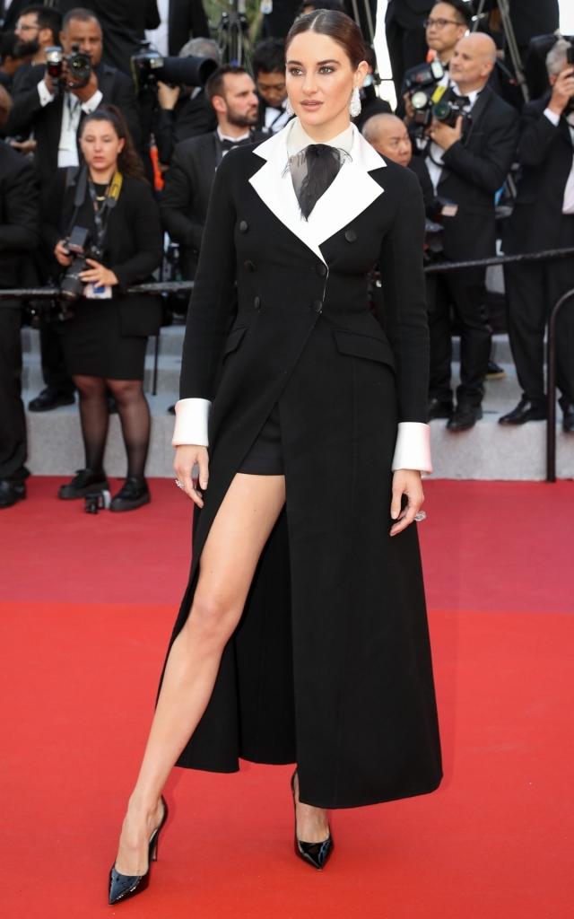 Celebritățile în a treia seară a Festivalului de Film de la Cannes 2019. Shailene Woodley în Christian Dior Haute Couture