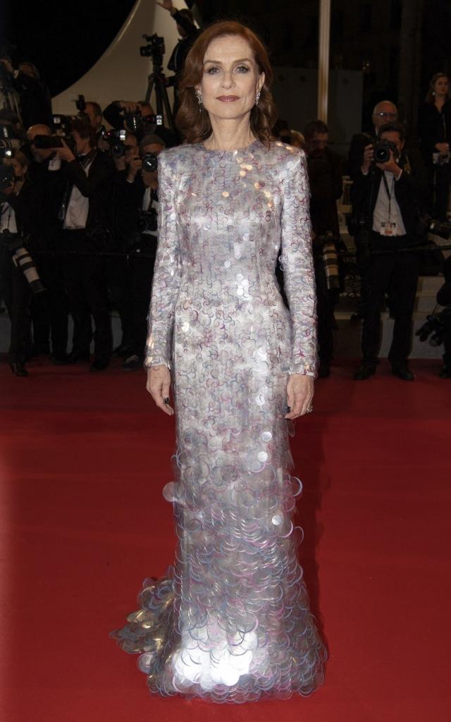 Isabelle Huppert în Armani Prive, Festivalul de Film de la Cannes 2019