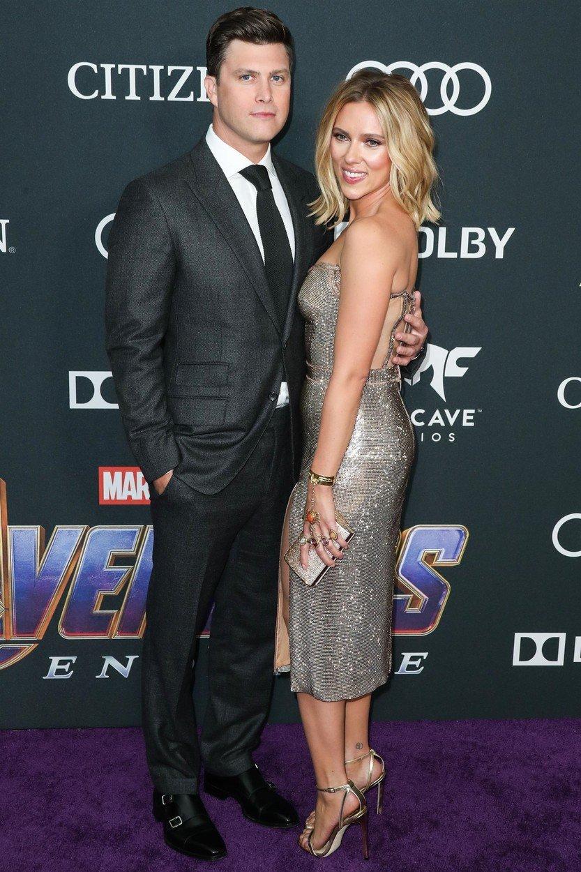 "Colin Jost și Scarlett Johansson, premiera filmului ""Avengers: Endgame"""