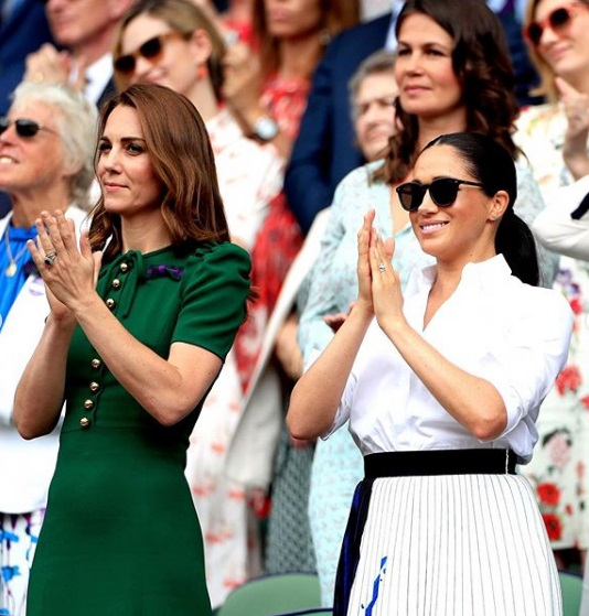 Kate Middleton și Meghan Markle în public, la finala Wimbledon