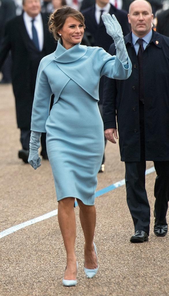 Melania Trump la parada inaugurală după investirea lui soţului său în funcţia de preşedinte al SUA