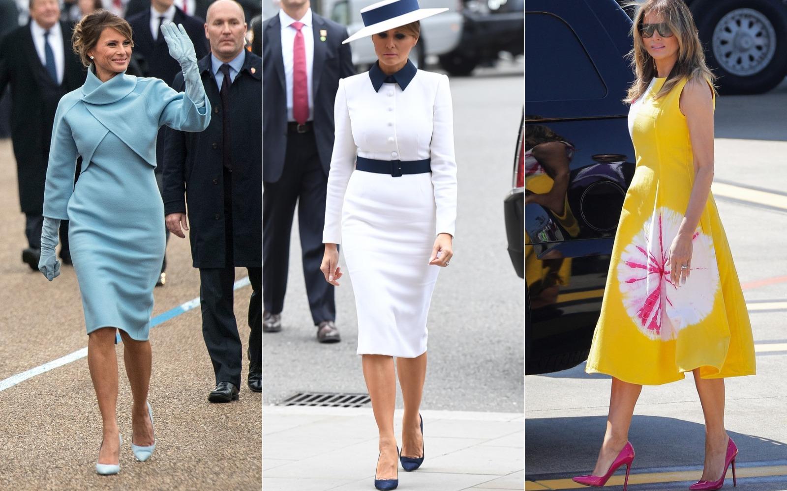 Cele mai frumoase ţinute purtate de Melania Trump
