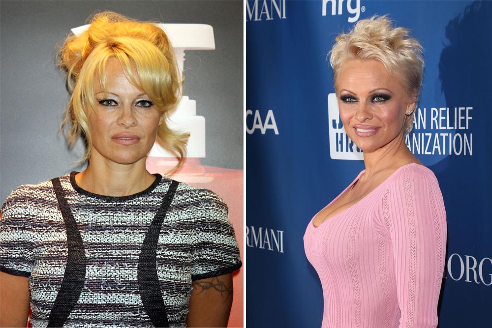 Tunsori păr scurt față rotundă Pamela Anderson