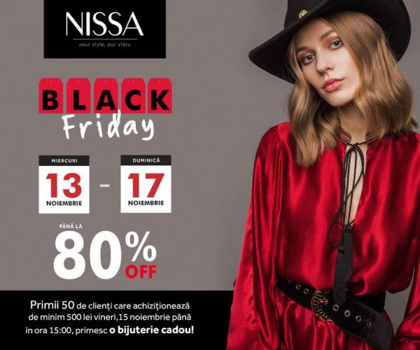 Nissa Black Friday 2019 este WOW! Sute de produse reduse cu 80%