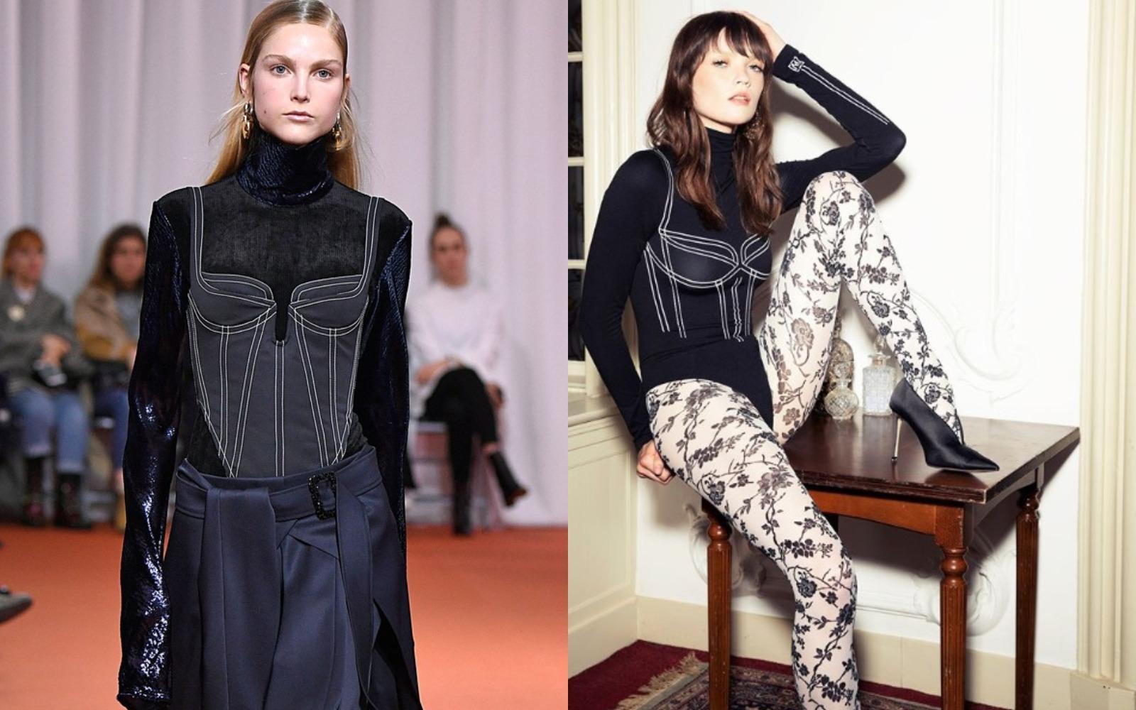 Uuups! Iluzii optice, la Ellery Haute Couture şi Wolford!