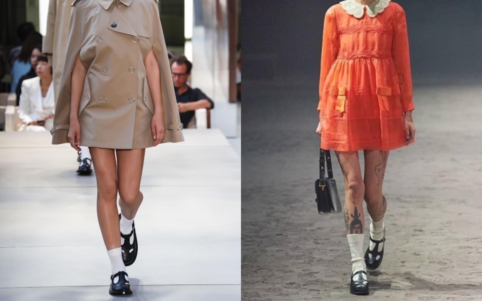 Uups! Pantofi vintage şi şosete, reţeta de succes pentru Burberry şi Gucci!