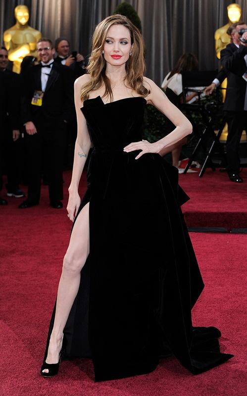 Angelina Jolie la Premiile Oscar 2012