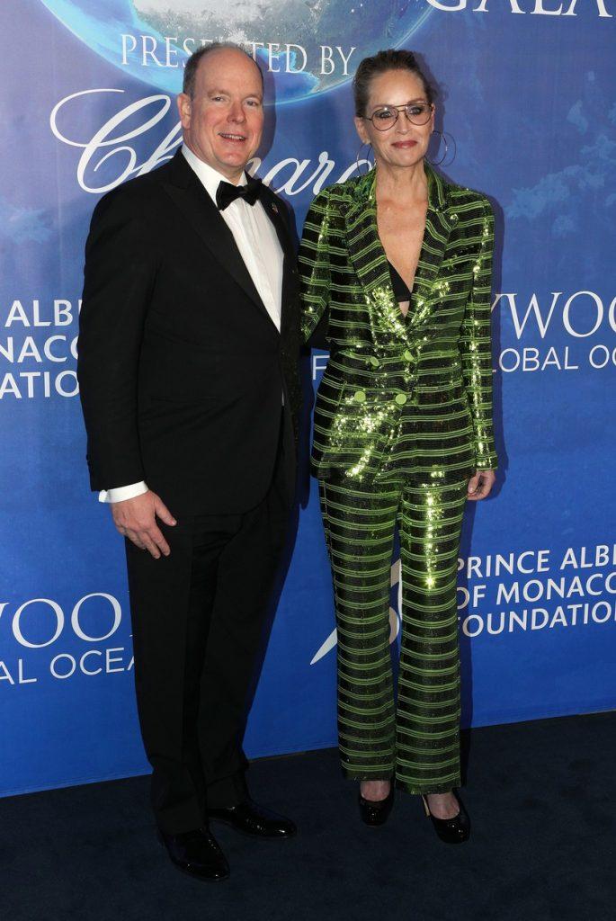 Sharon Stone alături de Prințul Albert de Monaco Foto: profimediaimages