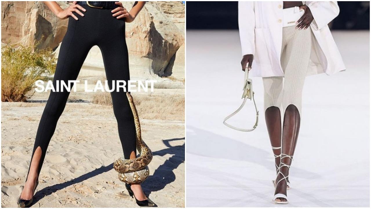 Uups! Vara asta se poartă colanții altfel: Saint Laurent vs. Jacquemus
