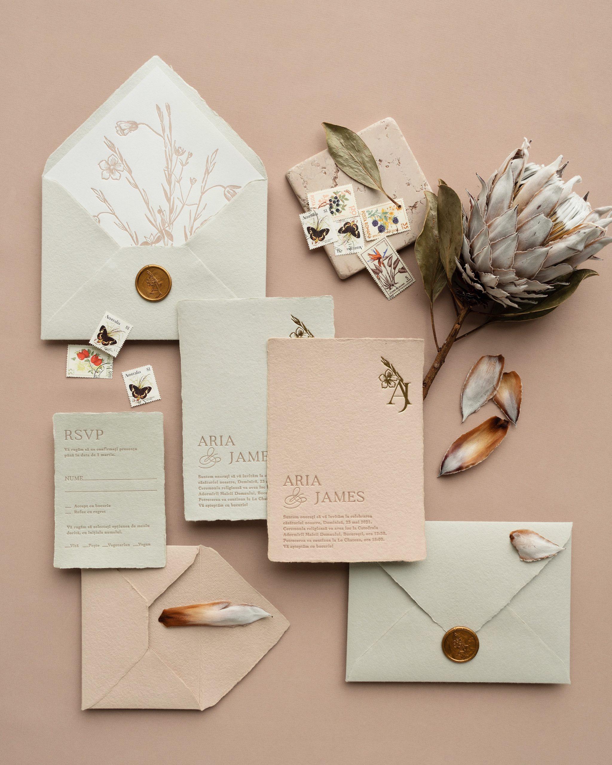 Despre papetăria de nuntă, invitaţii personalizate şi luxuriante. Interviu cu fondatorul Papira Design