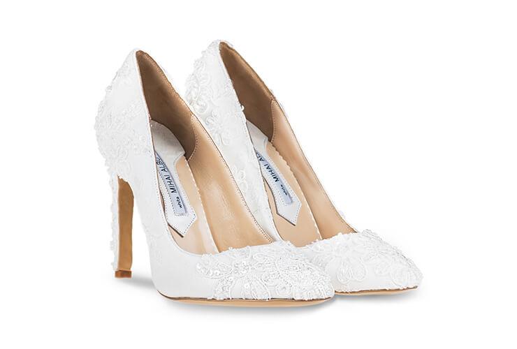 Pantofi de mireasa dantela Mihai Albu