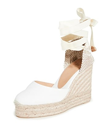 Pantofi de mireasa espadrile albe Sursa ShopBop.com
