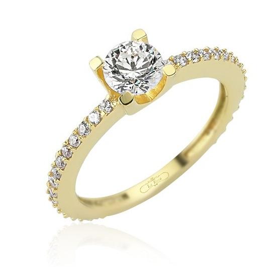 Inele de logodna comanda online aur diamant pietre zirconiu magazine online inel de logodna Sursa La Rosa