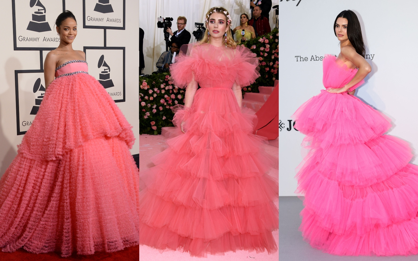 Cele mai spectaculoase rochii roz de pe covorul roșu