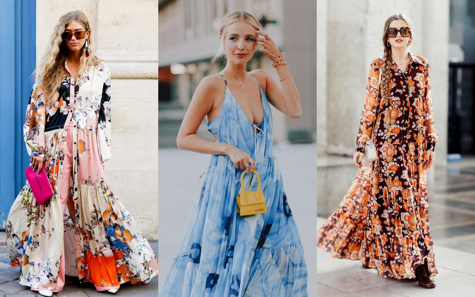 Floral shock: rochiile maxi revin în tendințe