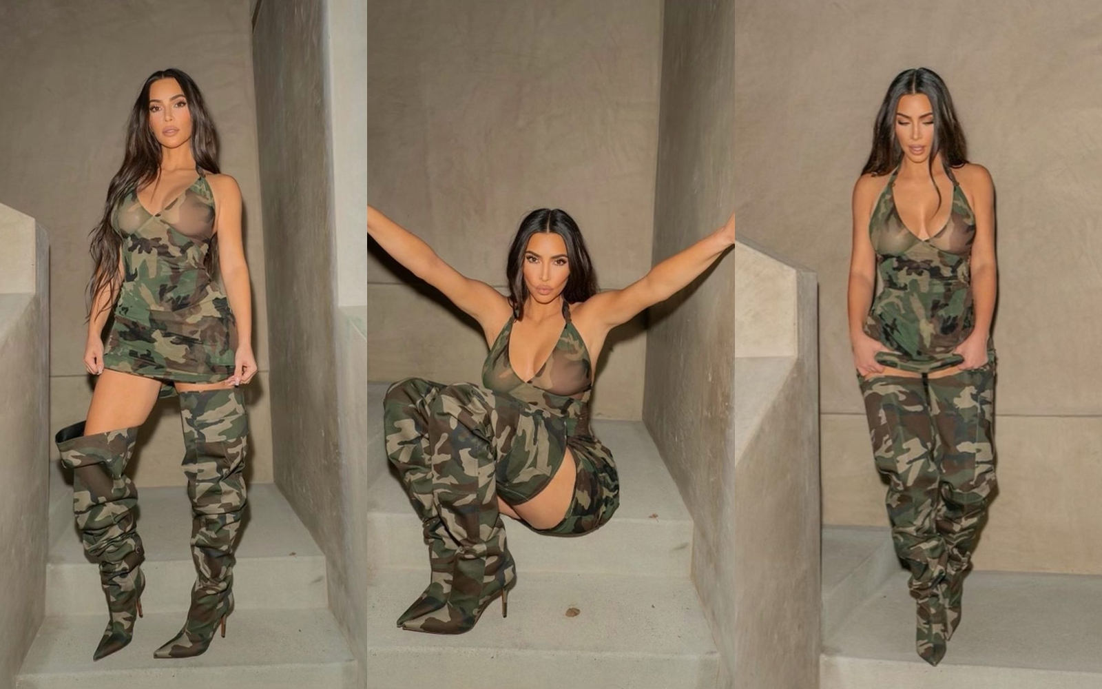 Kim Kardashian aduce înapoi un print faimos din trecut