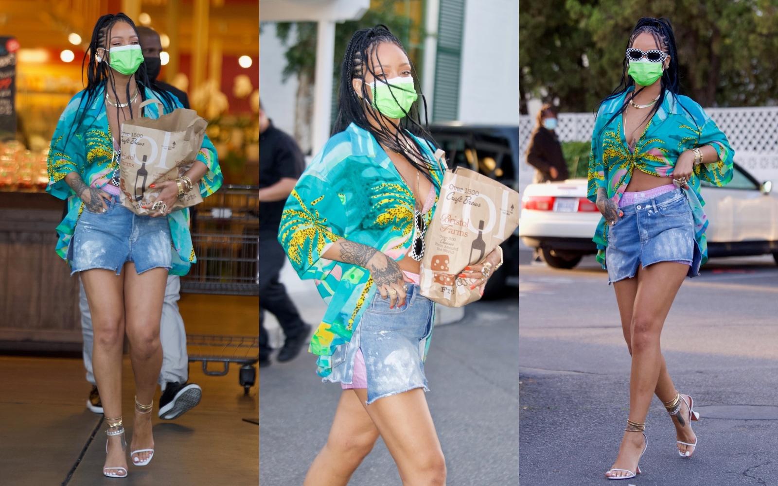 Rihanna, o nouă lecție de stil. Cum se îmbracă vedeta când merge la cumpărături